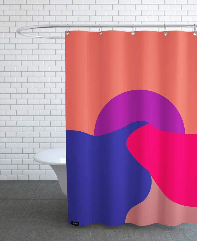 Sunset As Shower Curtain By Metron