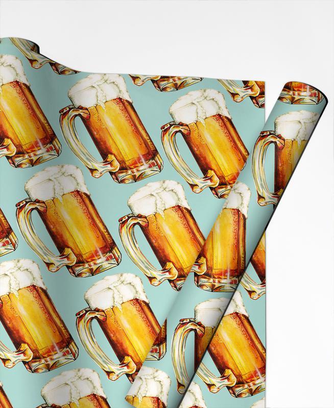Beer Pattern als Geschenkpapier von Kelly Gilleran | JUNIQE