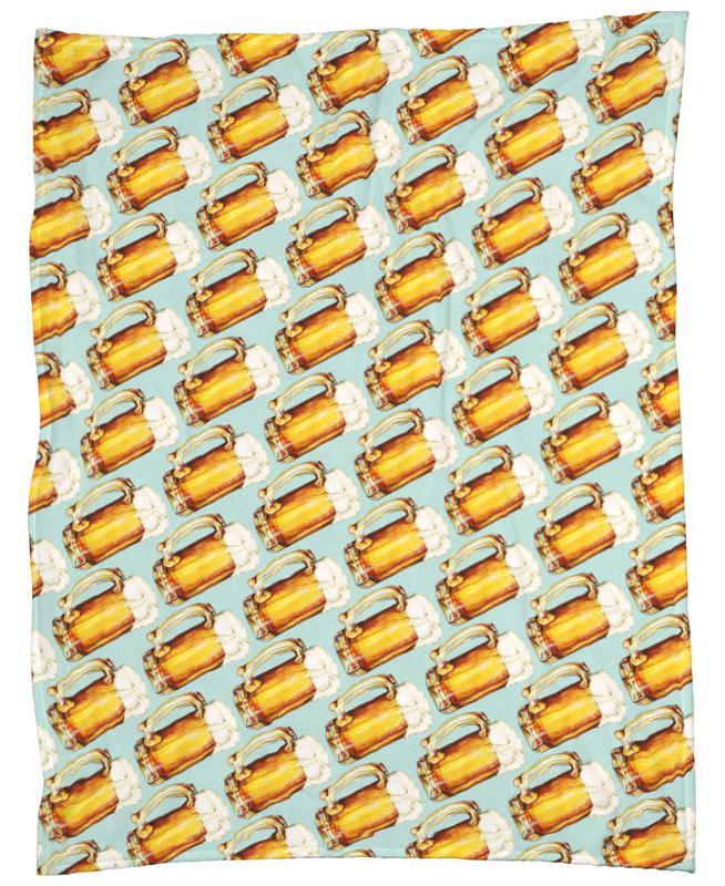 Beer Pattern As Fleece Blanket By Kelly Gilleran | JUNIQE