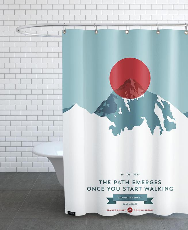 Mount Everest Red Shower Curtain