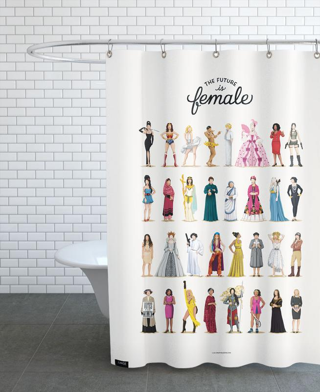 The Future Is Female as Shower Curtain by Nour Tohme | JUNIQE UK