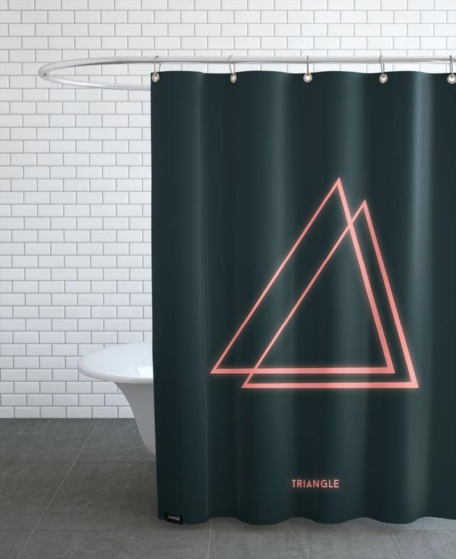 Neon Triangle Shower Curtain