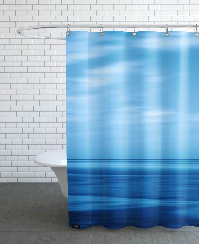 Seascape Blue Sky As Shower Curtain By Steffi Louis