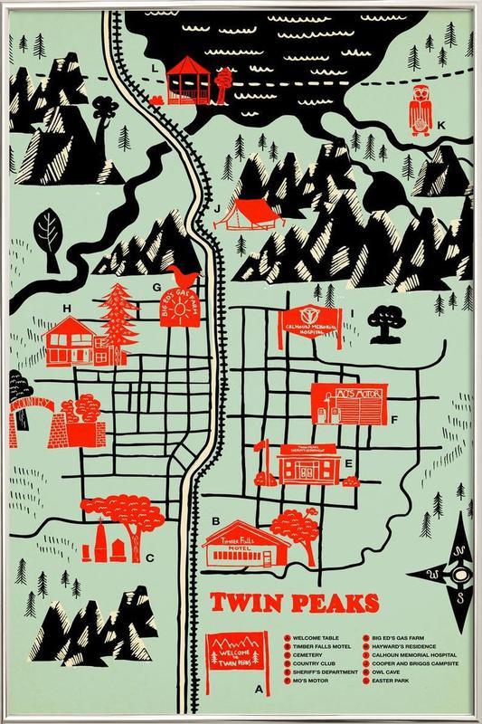 twin peaks als poster im alurahmen von r bert farkas juniqe. Black Bedroom Furniture Sets. Home Design Ideas