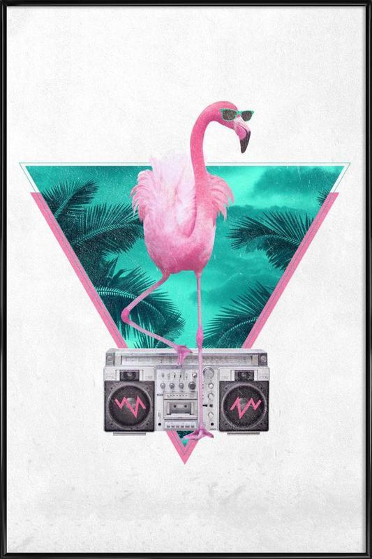 Miami Flamingo As Poster In Standard Frame By Rbert Farkas Juniqe