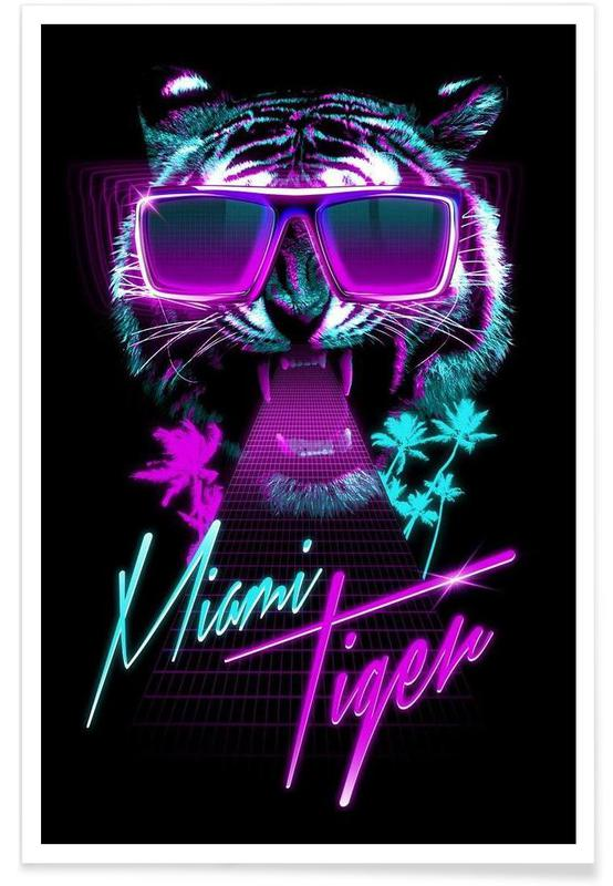 miami tiger als premium poster von r bert farkas juniqe. Black Bedroom Furniture Sets. Home Design Ideas