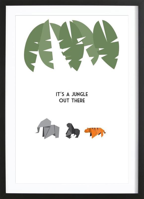 jungle als poster im holzrahmen von trabolt design juniqe. Black Bedroom Furniture Sets. Home Design Ideas