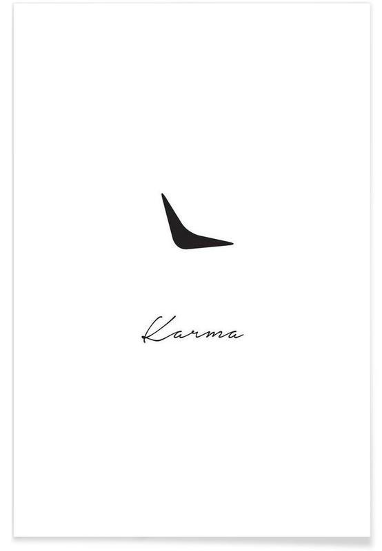 karma als premium poster von trabolt design juniqe. Black Bedroom Furniture Sets. Home Design Ideas