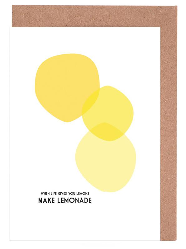 Lemons 2 as greeting card set by trabolt design juniqe home stationery greeting cards m4hsunfo
