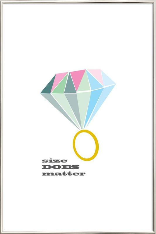 Size as Poster in Aluminium Frame by Trabolt Design | JUNIQE