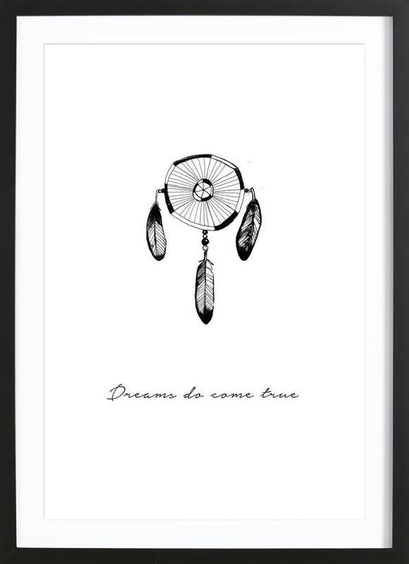 Dreams En Affiche Sous Cadre En Bois Par Trabolt Design Juniqe