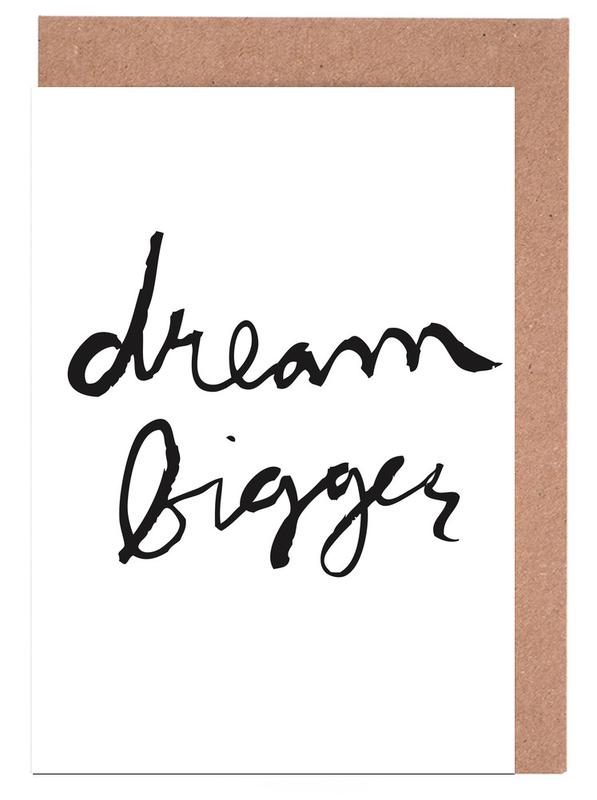 Dream bigger as greeting card set by dead language juniqe uk m4hsunfo