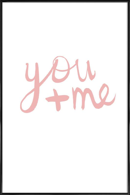 You And Me As Poster In Standard Frame By Dead Language Juniqe