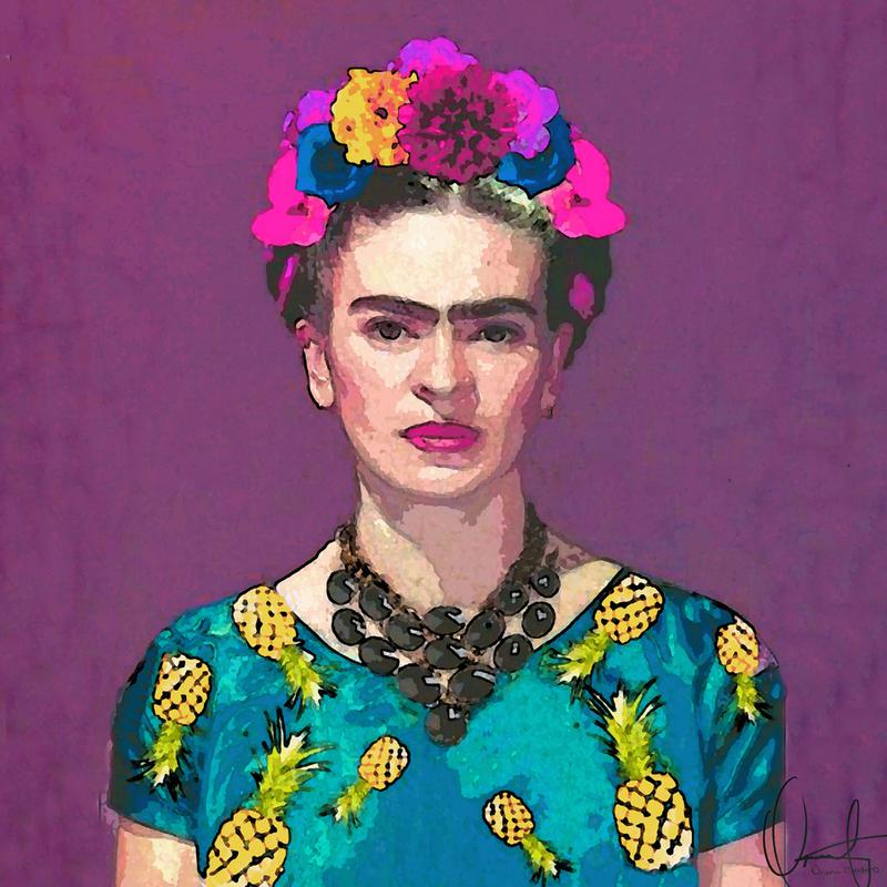 trendy frida kahlo as canvas print by xchange art studio juniqe. Black Bedroom Furniture Sets. Home Design Ideas