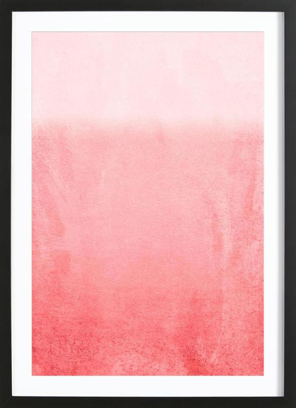 Fading Coral as Poster in Wooden Frame by Monika Strigel | JUNIQE