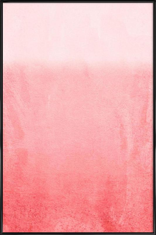 Fading Coral as Poster in Standard Frame by Monika Strigel | JUNIQE