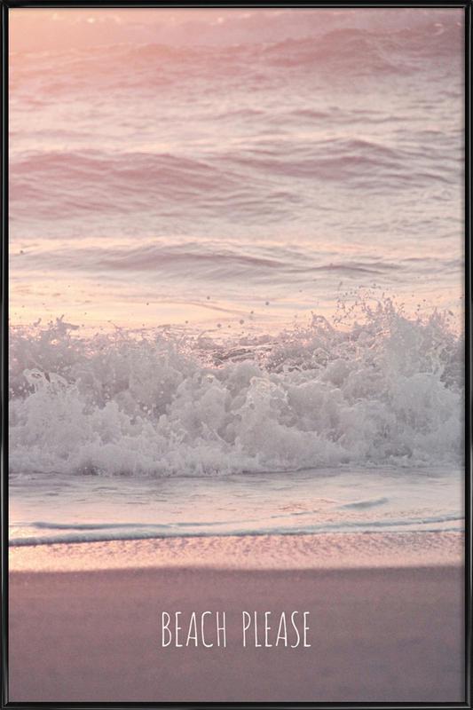 beach please als poster im kunststoffrahmen juniqe. Black Bedroom Furniture Sets. Home Design Ideas