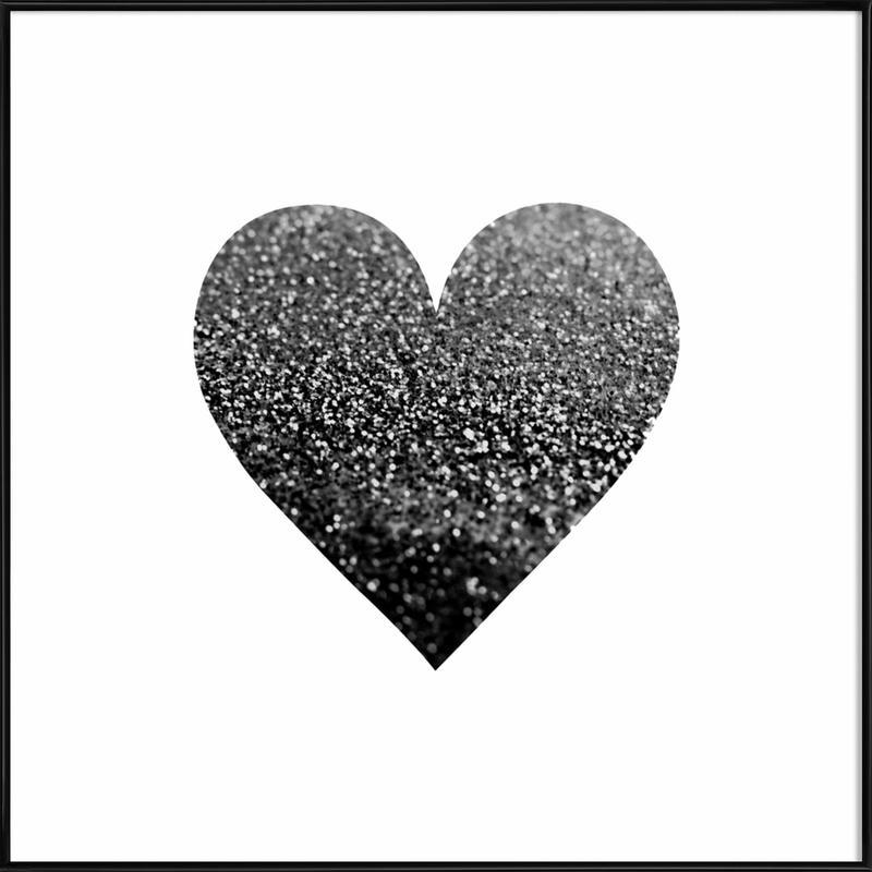 Black Heart as Poster in Standard Frame by Monika Strigel | JUNIQE UK