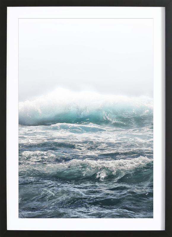 Big Splash Hawaii as Poster in Wooden Frame by Monika Strigel ...
