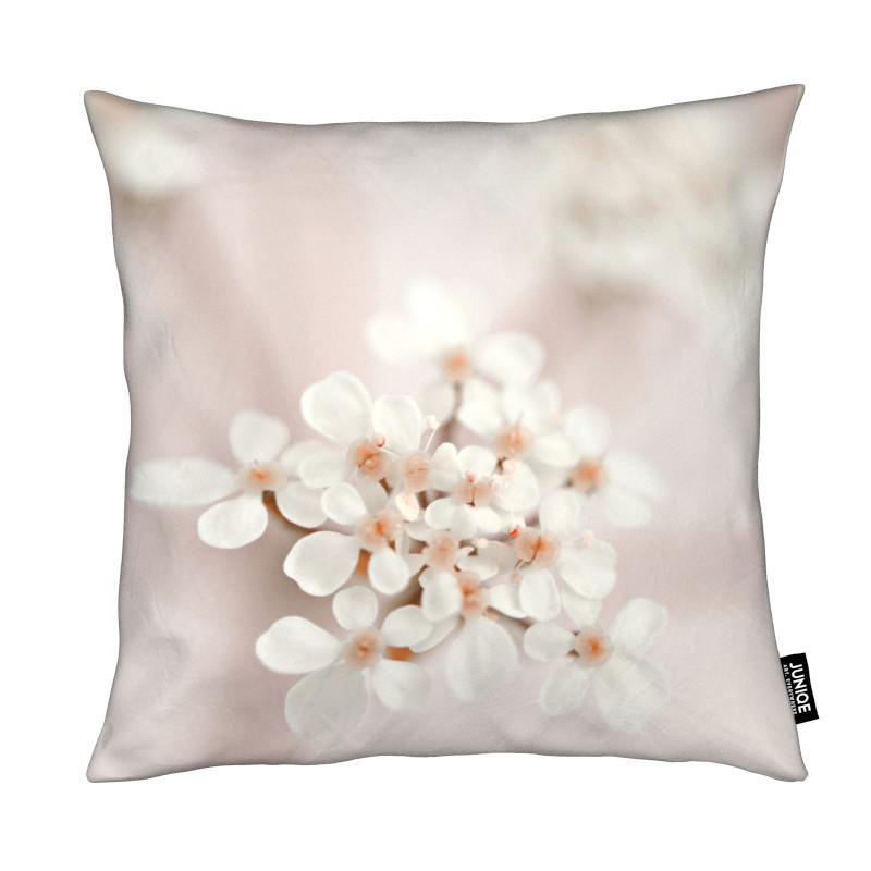 pastel flower queen ann lace als kissen von monika strigel juniqe ch. Black Bedroom Furniture Sets. Home Design Ideas
