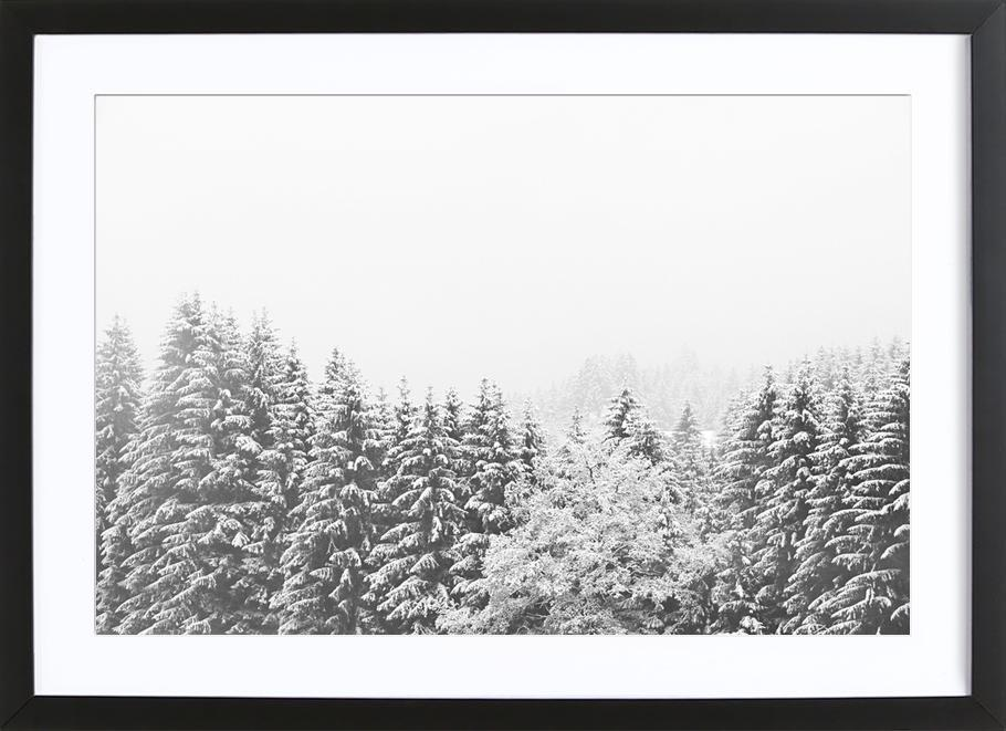 Winter In the Mountains as Poster in Wooden Frame | JUNIQE