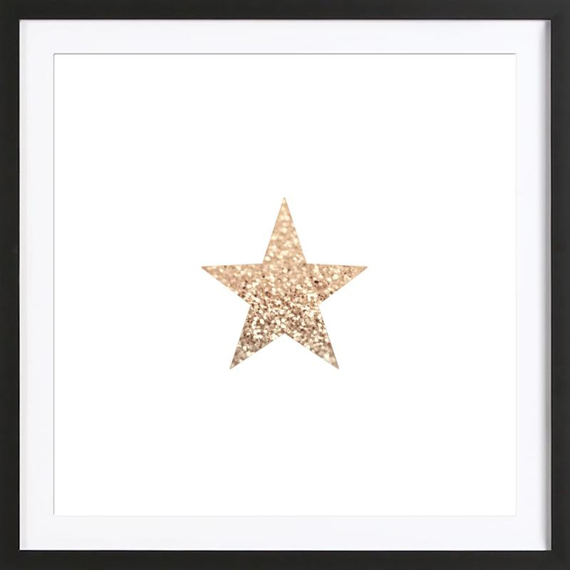 d47f7c6b3ce3 Gatsby Gold Star as Poster in Wooden Frame by Monika Strigel