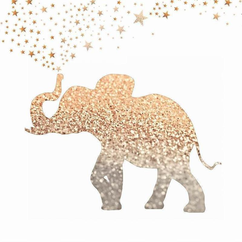 Gold Elephant als Leinwandbild von Monika Strigel | JUNIQE