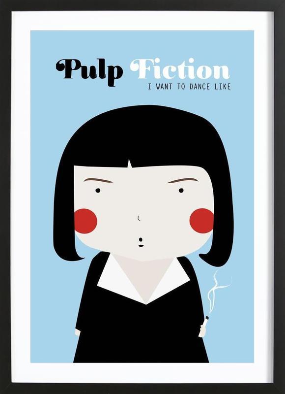 little pulp fiction als poster im holzrahmen von ni asilla juniqe. Black Bedroom Furniture Sets. Home Design Ideas
