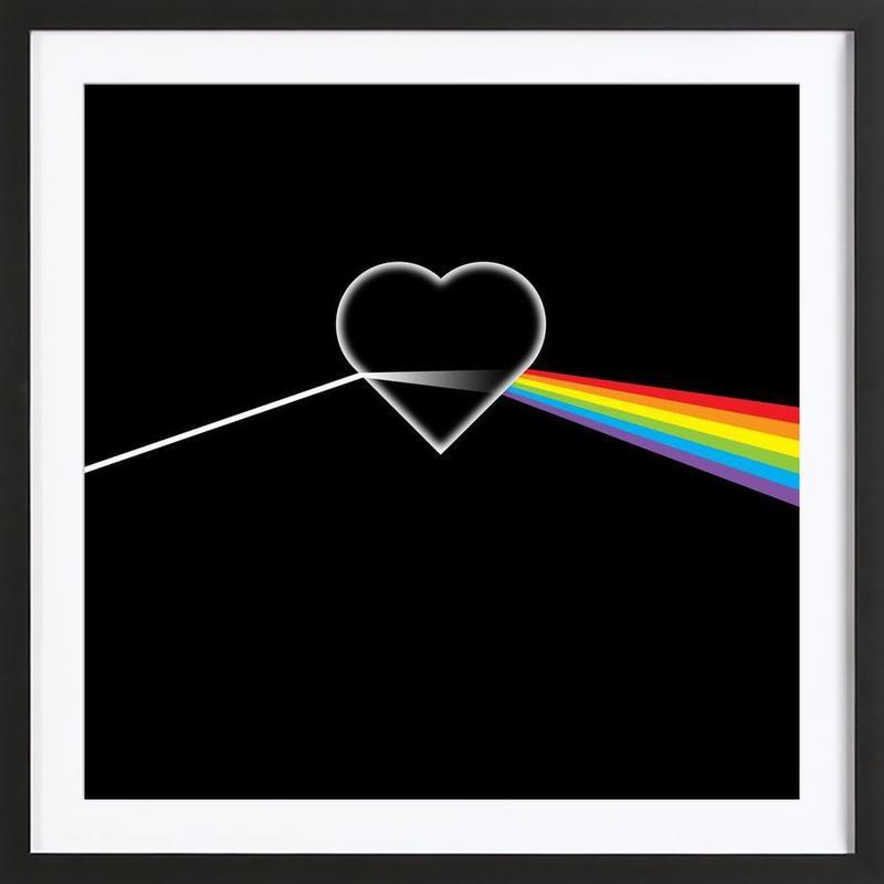 Deko leinwandbilder schlafzimmer : Dark Side of Love als Poster im Holzrahmen von Thomas ...
