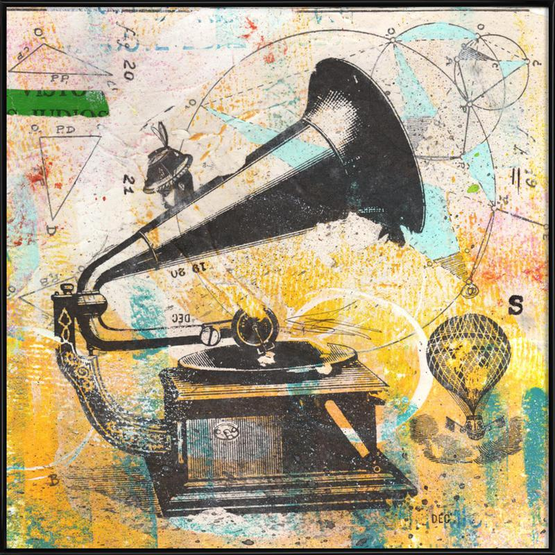 Gramophone as Poster in Standard Frame by Mateo | JUNIQE