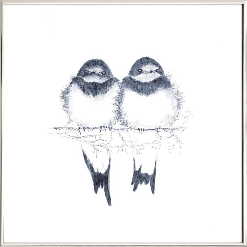 Birds as Poster in Aluminium Frame by youdesignme | JUNIQE