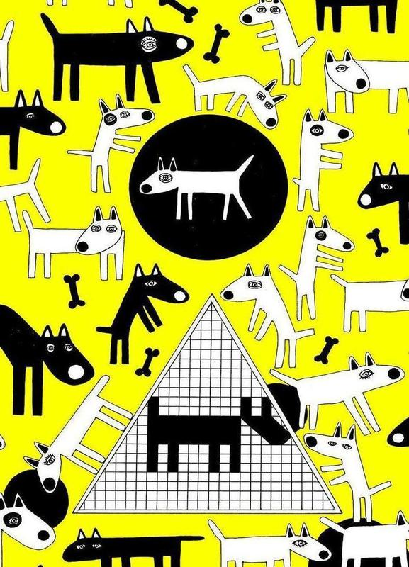 dogs as canvas print by studio teer juniqe
