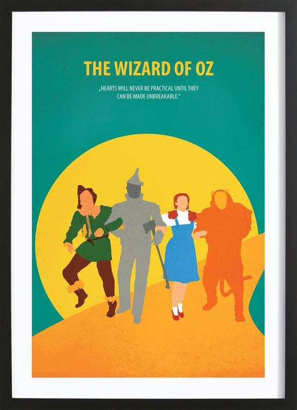 The Wizard of Oz as Poster in Wooden Frame by Fräulein Fisher | JUNIQE