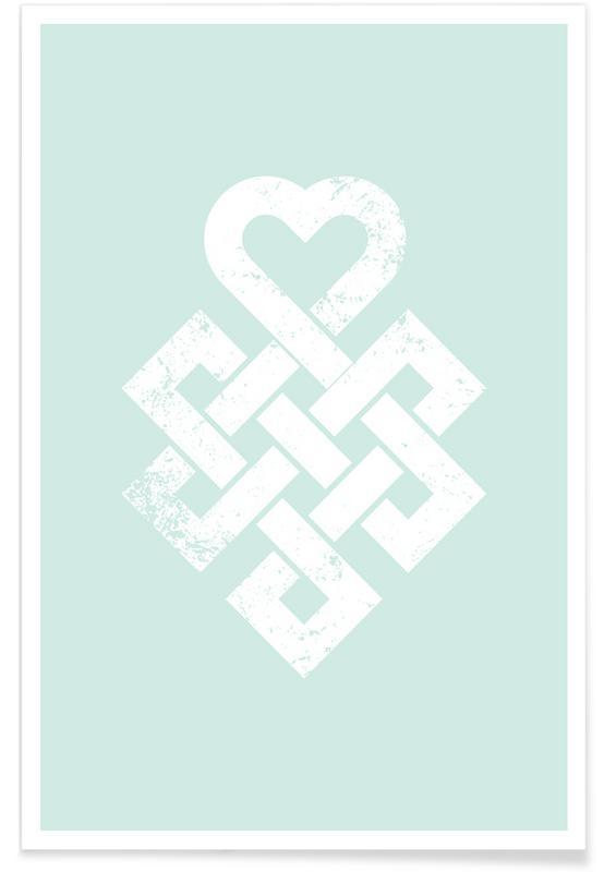 Heart Symbol Als Premium Poster Door Ledieg Juniqe