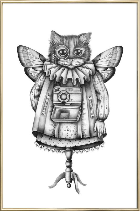 Cat as Poster in Aluminium Frame by Maria Vdovichenko | JUNIQE