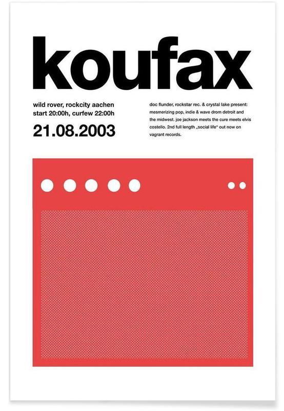 Koufax Als Premium Poster Von Stephan Kochs Juniqe
