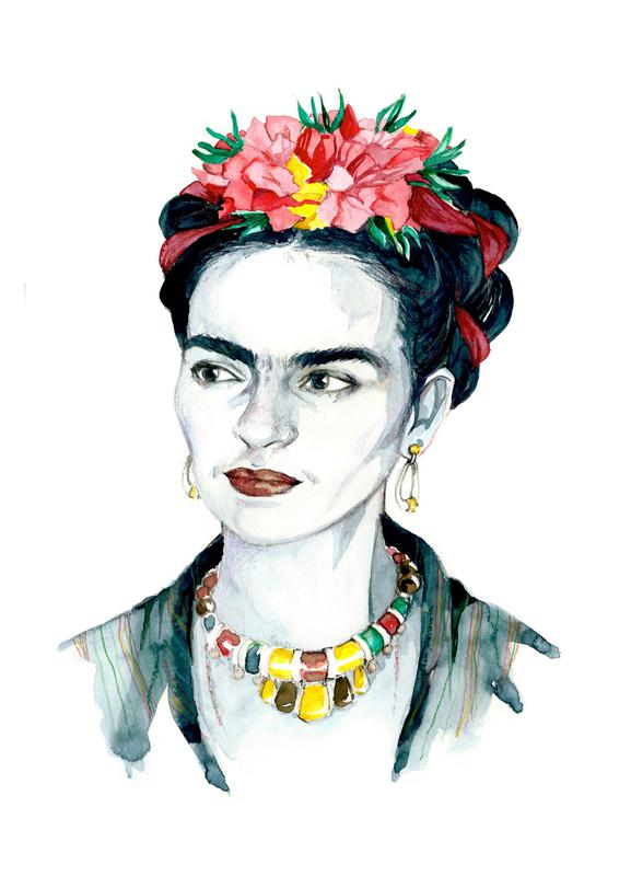 Frida Kahlo As Canvas Print By Susana Miranda Ilustraci 243 N