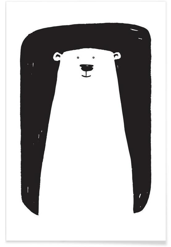 bear als premium poster von richard hood juniqe. Black Bedroom Furniture Sets. Home Design Ideas