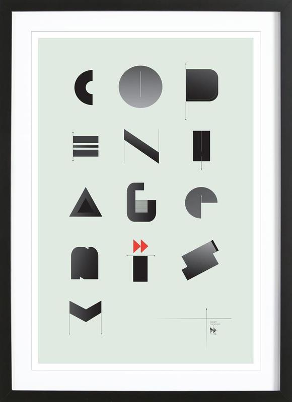 copenhagenism als poster im holzrahmen von andreas jarner juniqe. Black Bedroom Furniture Sets. Home Design Ideas