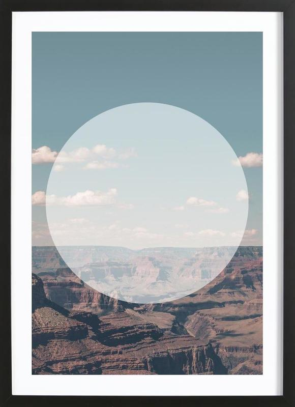 Grand Canyon Circular As Poster In Wooden Frame By Joe Mania Juniqe