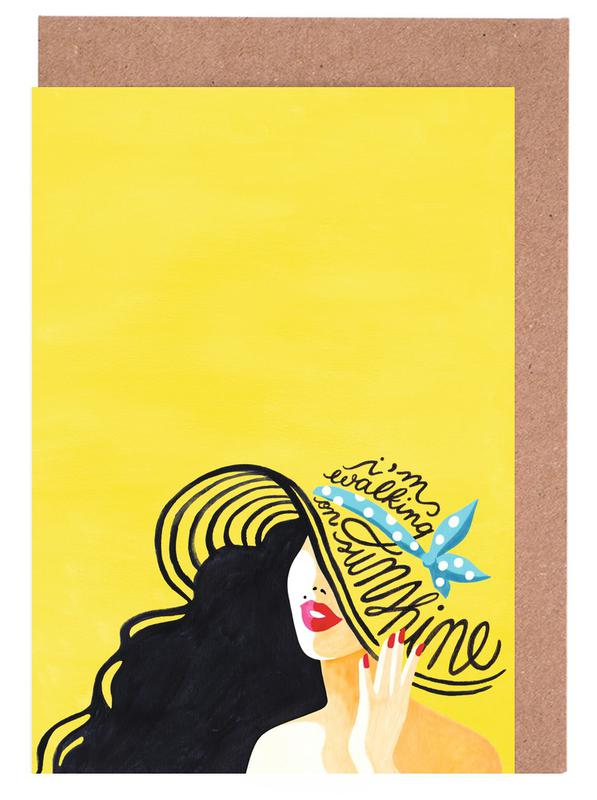 Walking on sunshine draw me a song as greeting card set juniqe m4hsunfo