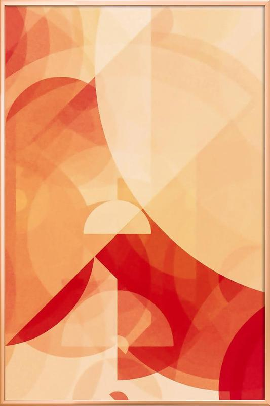 RED as Poster in Aluminium Frame by In Full Color | JUNIQE