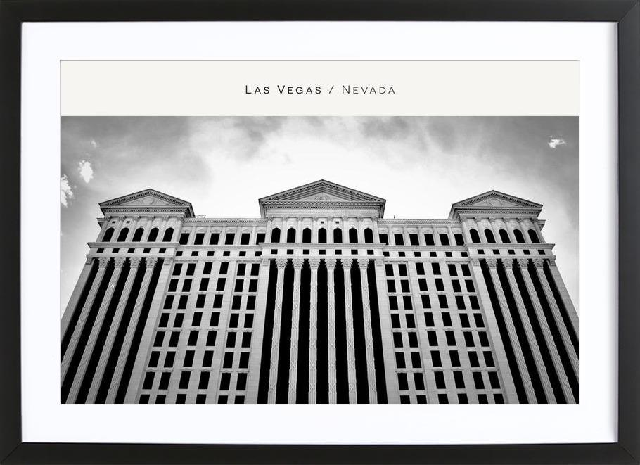 Las Vegas B&W as Poster in Wooden Frame by In Full Color | JUNIQE