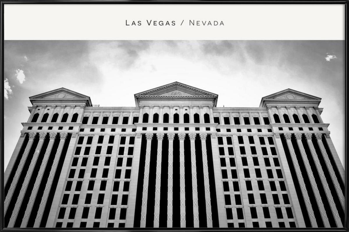 Las Vegas B&W as Poster in Standard Frame by In Full Color | JUNIQE