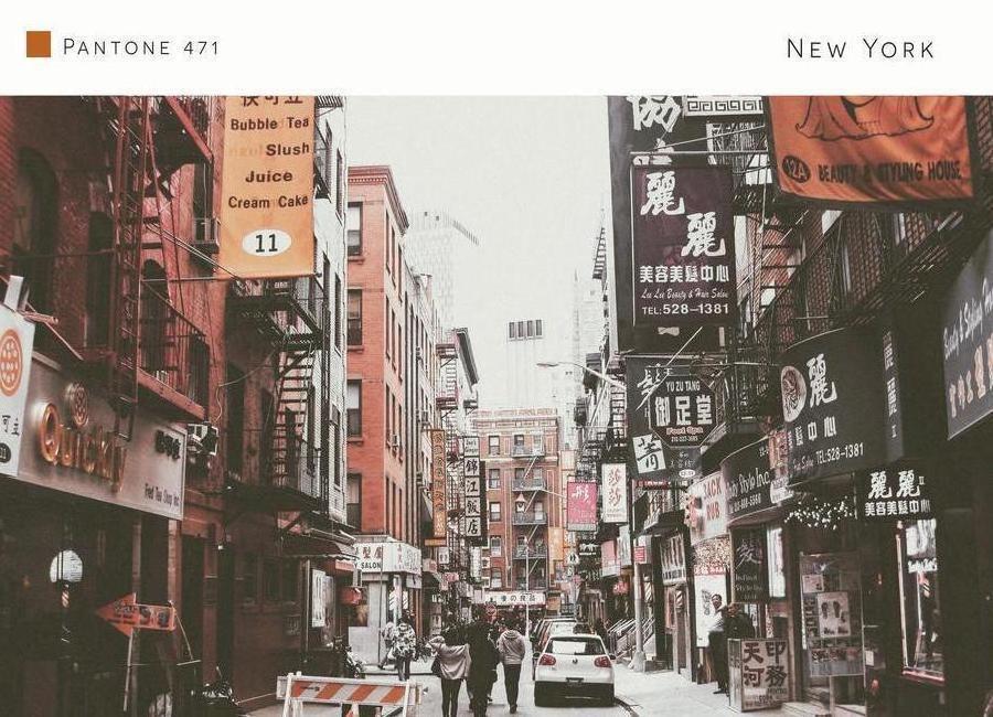 New York Leinwandbild ~ New york pantone 471 als leinwandbild von in full color juniqe