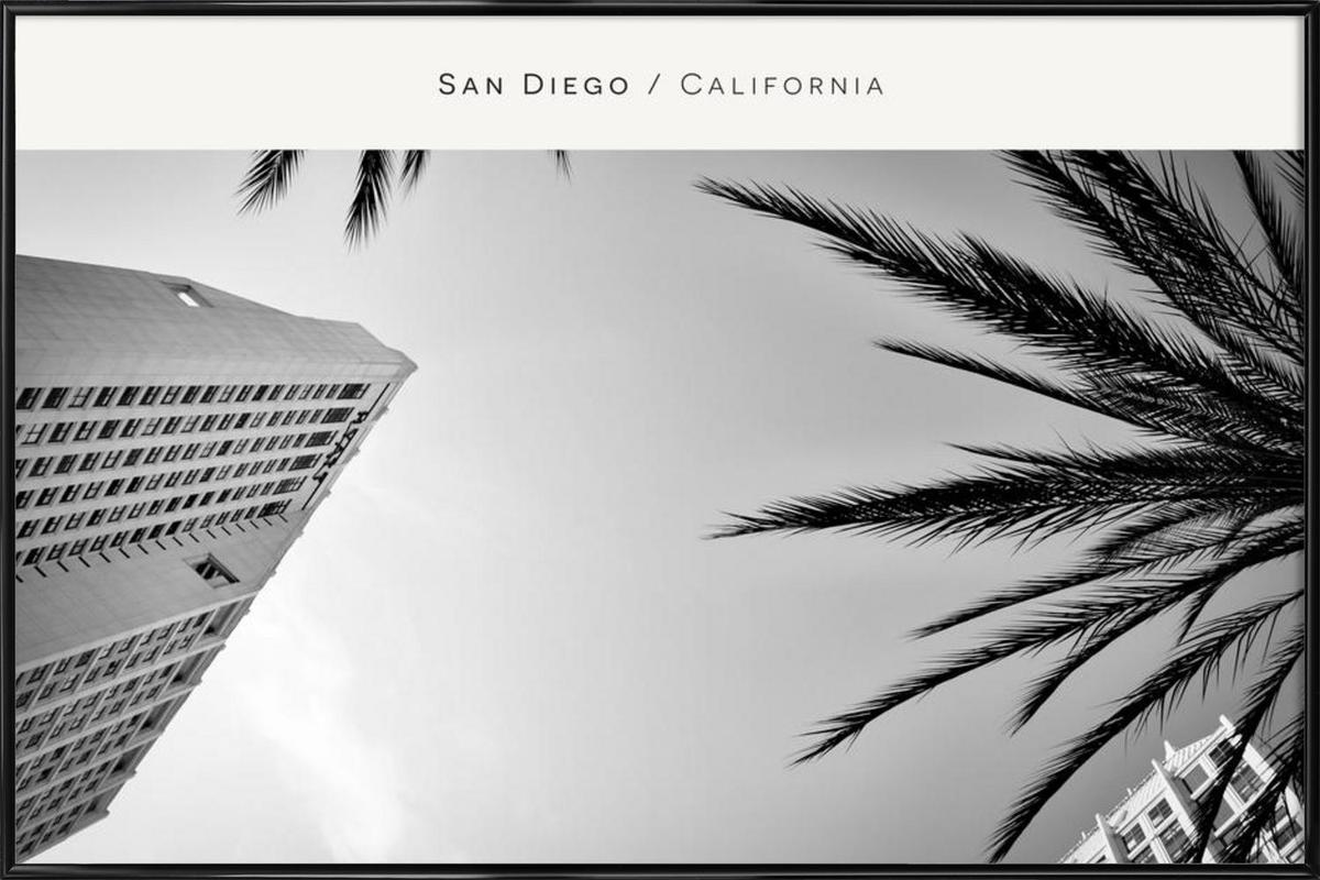 San Diego B&W as Poster in Standard Frame by In Full Color   JUNIQE