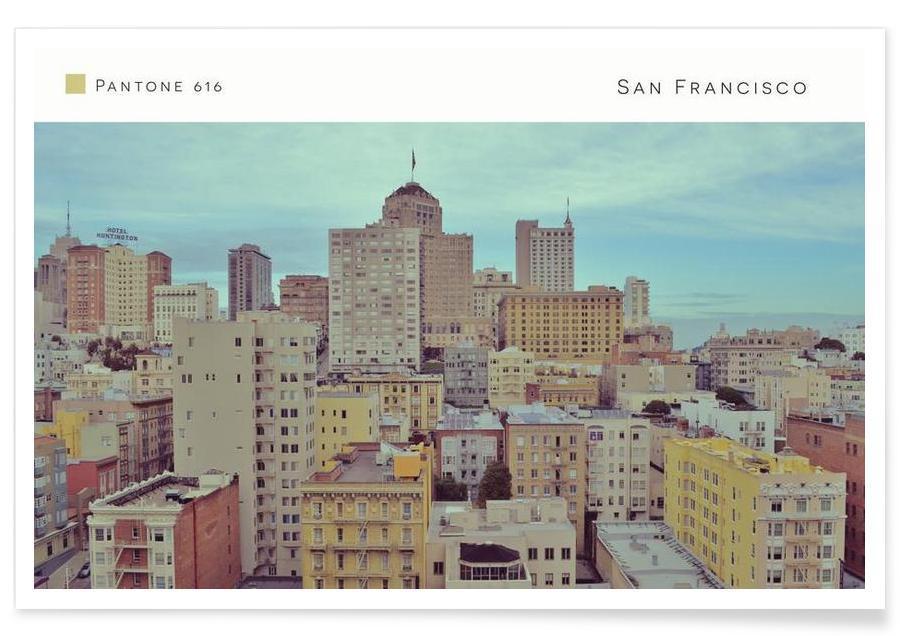 San Francisco Pantone 616 als Premium Poster | JUNIQE