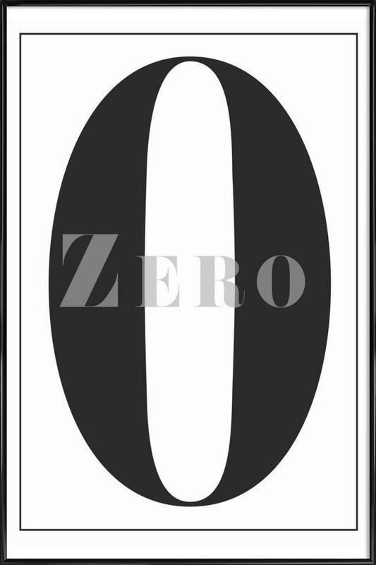 Numero 0 Als Poster In Kunststof Lijst Door In Full Color Juniqe