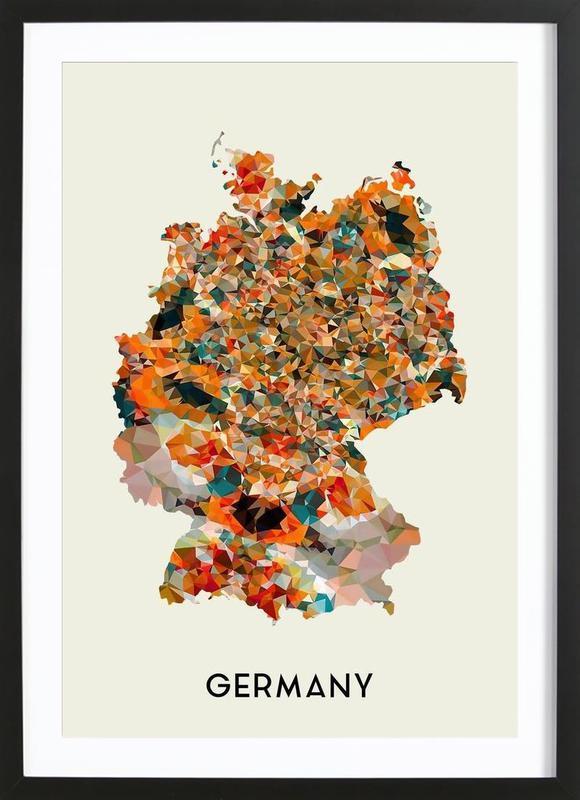 germany als poster im holzrahmen von in full color juniqe. Black Bedroom Furniture Sets. Home Design Ideas