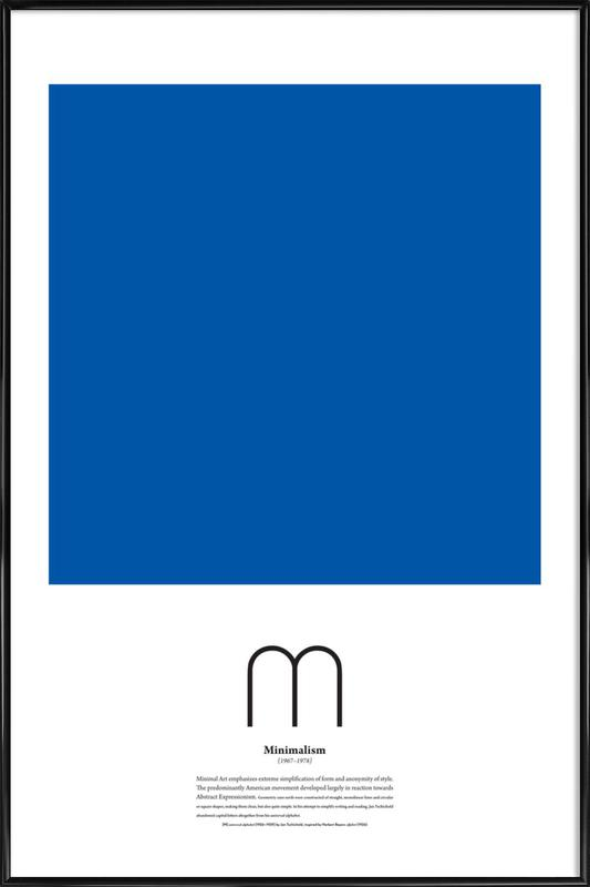 M minimalism als poster im kunststoffrahmen juniqe for Minimal art kunstwerke